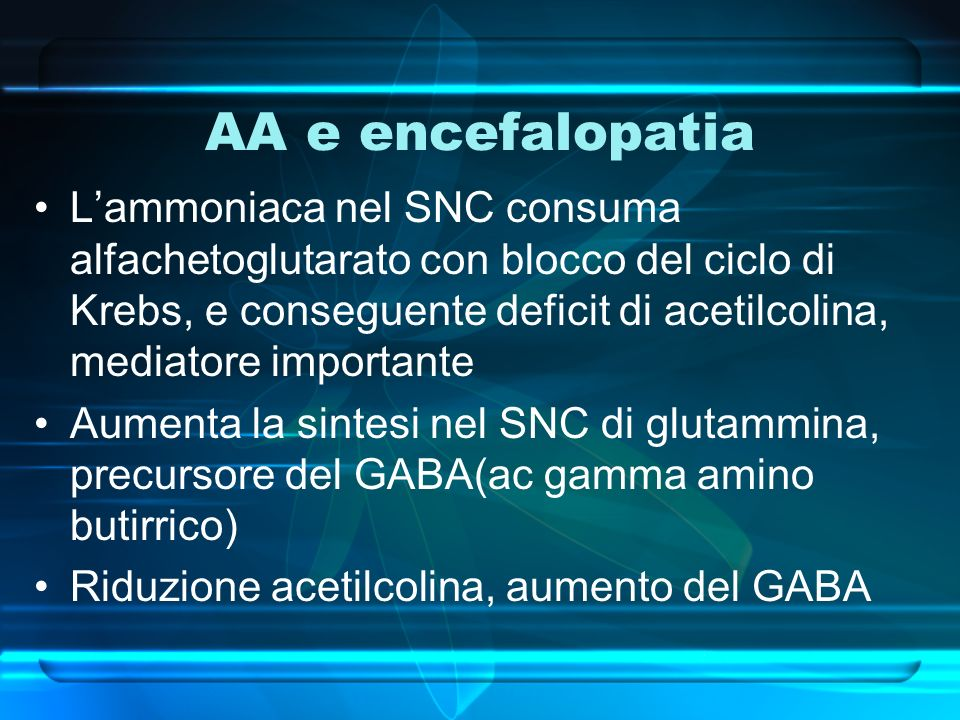 AA e encefalopatia