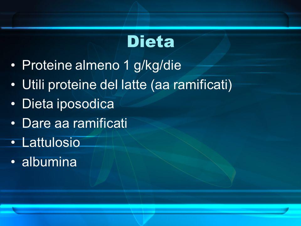 Dieta Proteine almeno 1 g/kg/die