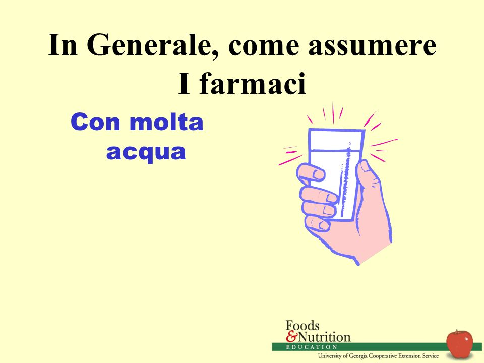 In Generale, come assumere I farmaci