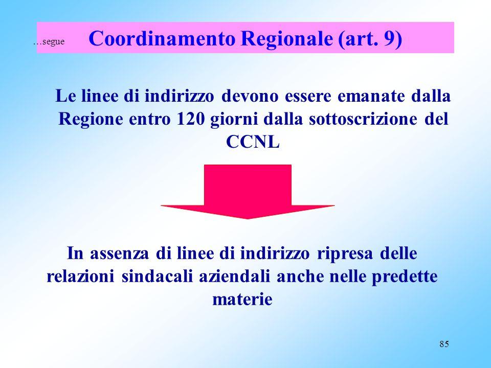 Coordinamento Regionale (art. 9)