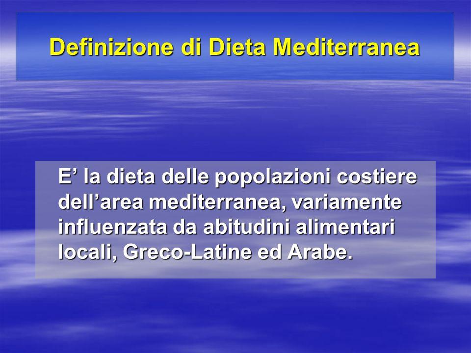 Definizione di Dieta Mediterranea