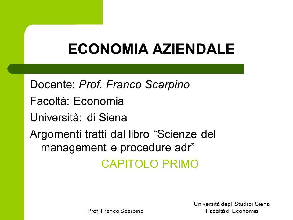 Università degli Studi di Siena Facoltà di Economia
