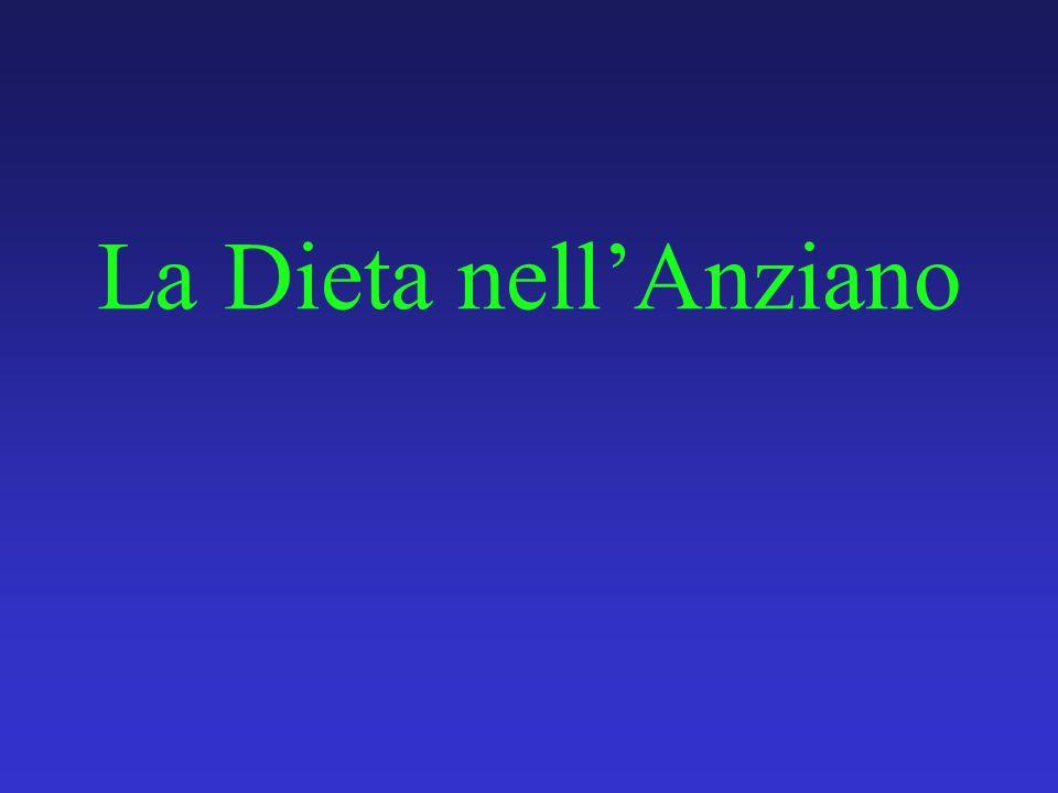 La Dieta nell'Anziano