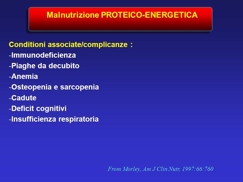 Malnutrizione PROTEICO-ENERGETICA