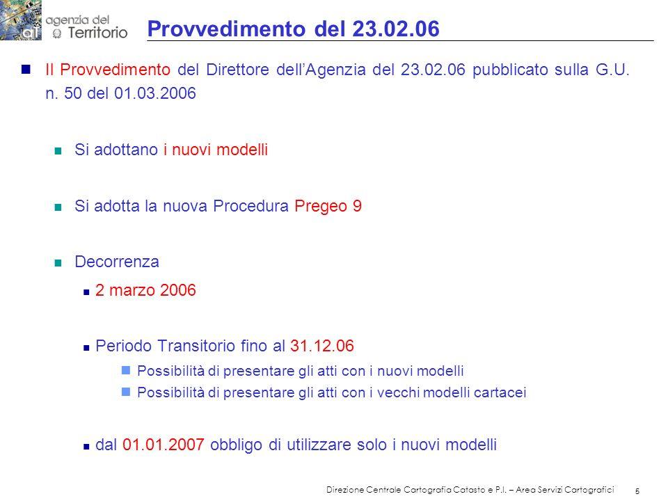 Provvedimento del 23.02.06Il Provvedimento del Direttore dell'Agenzia del 23.02.06 pubblicato sulla G.U. n. 50 del 01.03.2006.