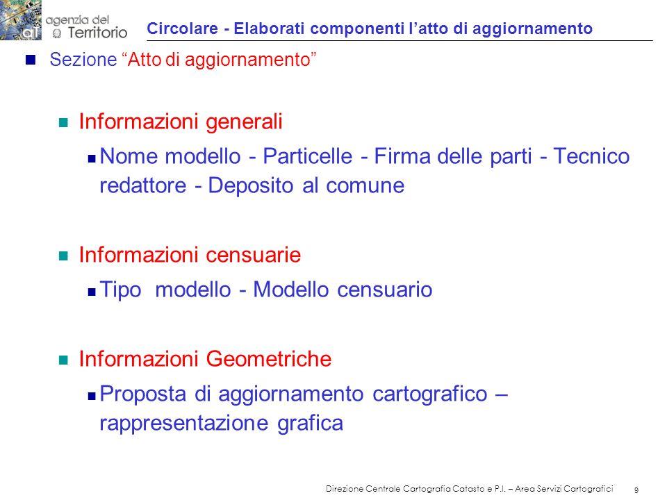 Circolare - Elaborati componenti l'atto di aggiornamento