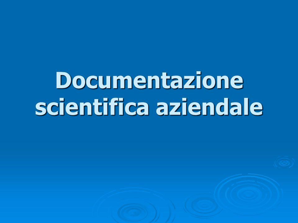 Documentazione scientifica aziendale