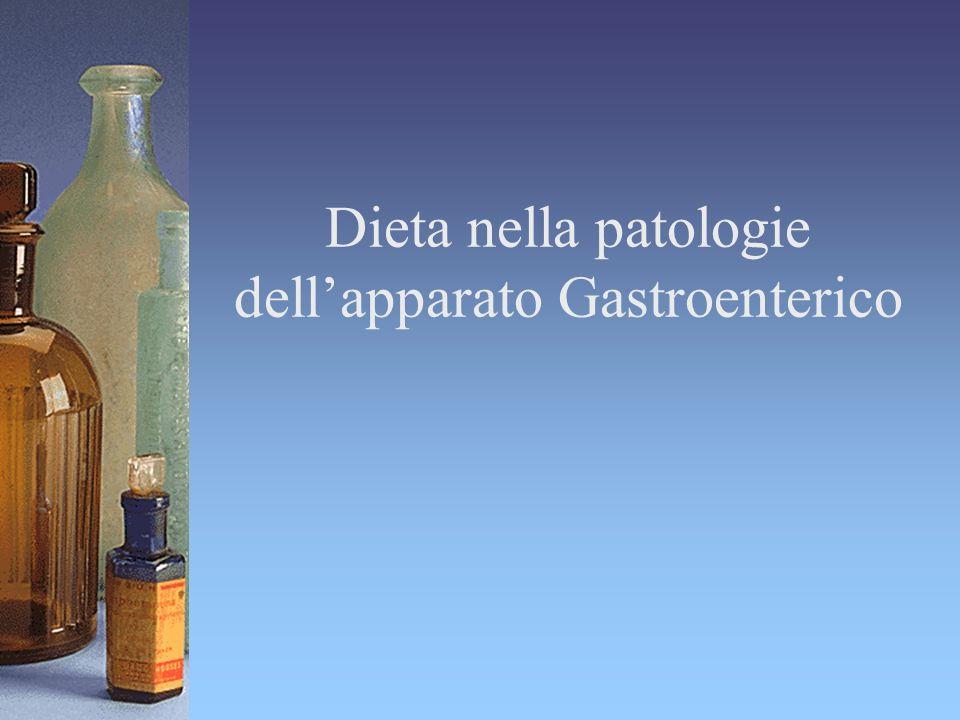 Dieta nella patologie dell'apparato Gastroenterico