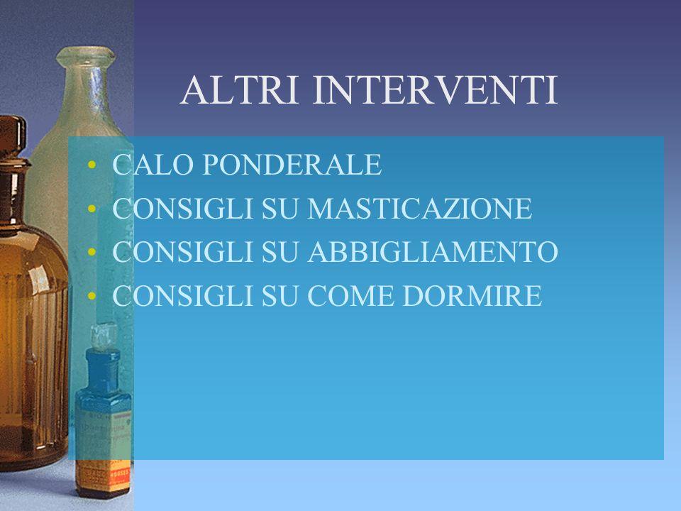 ALTRI INTERVENTI CALO PONDERALE CONSIGLI SU MASTICAZIONE