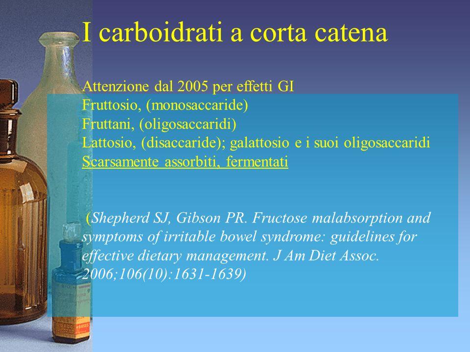 I carboidrati a corta catena