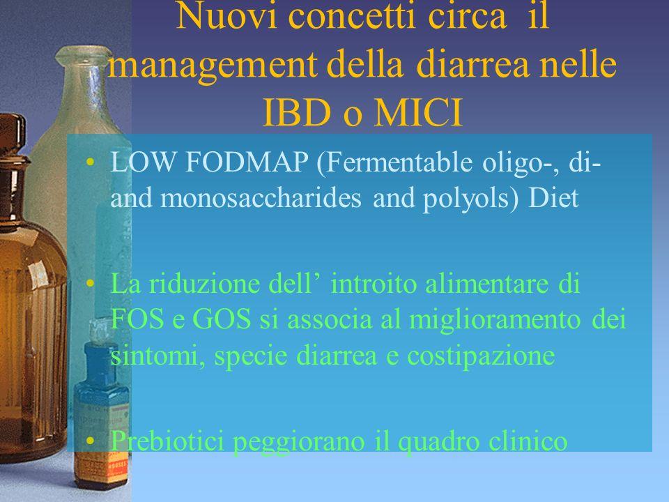 Nuovi concetti circa il management della diarrea nelle IBD o MICI