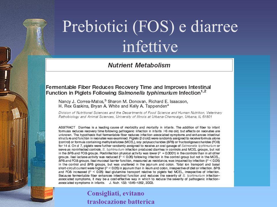 Prebiotici (FOS) e diarree infettive