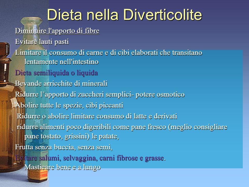 Dieta nella Diverticolite