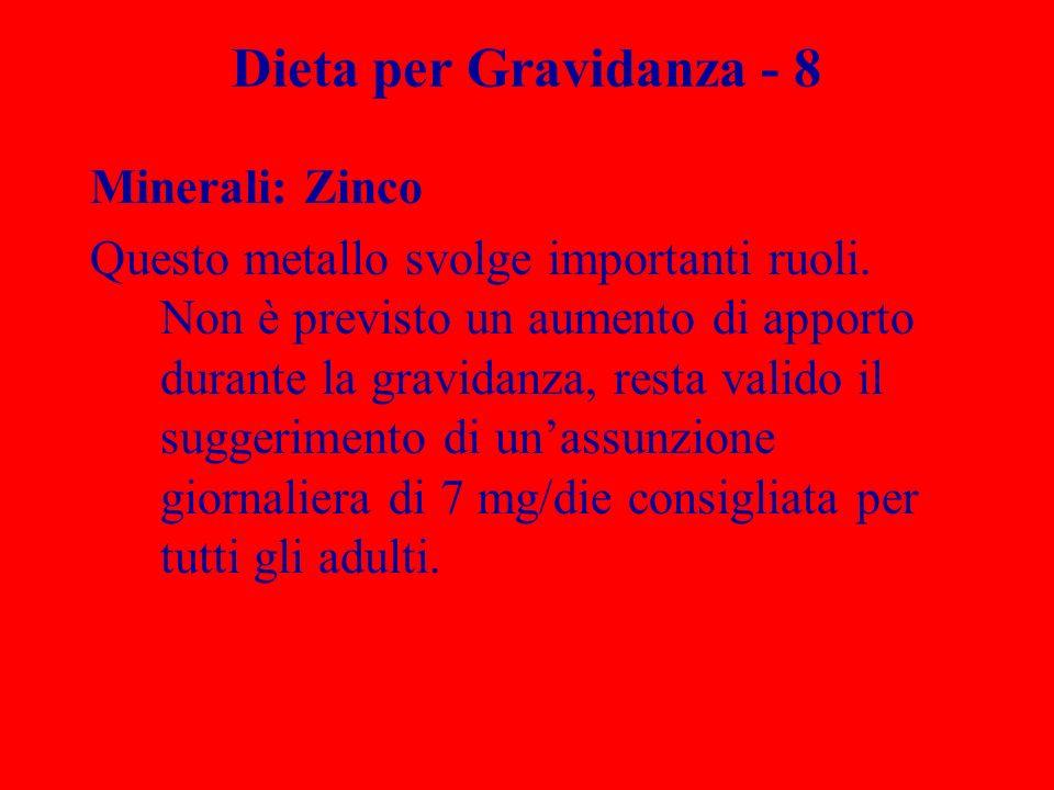 Dieta per Gravidanza - 8 Minerali: Zinco