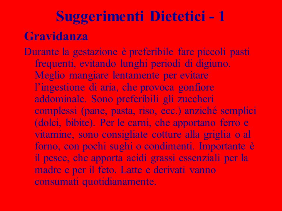 Suggerimenti Dietetici - 1