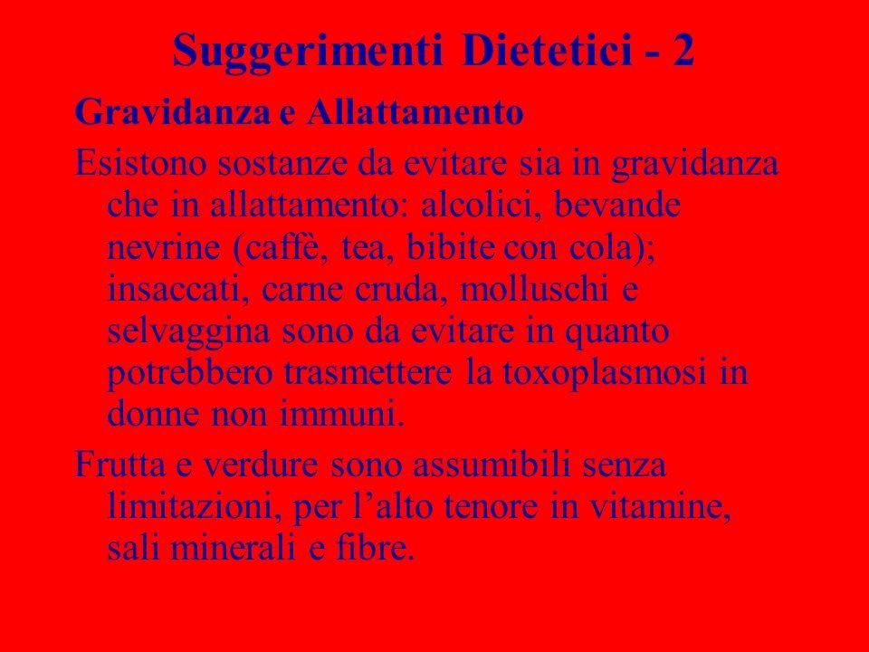 Suggerimenti Dietetici - 2
