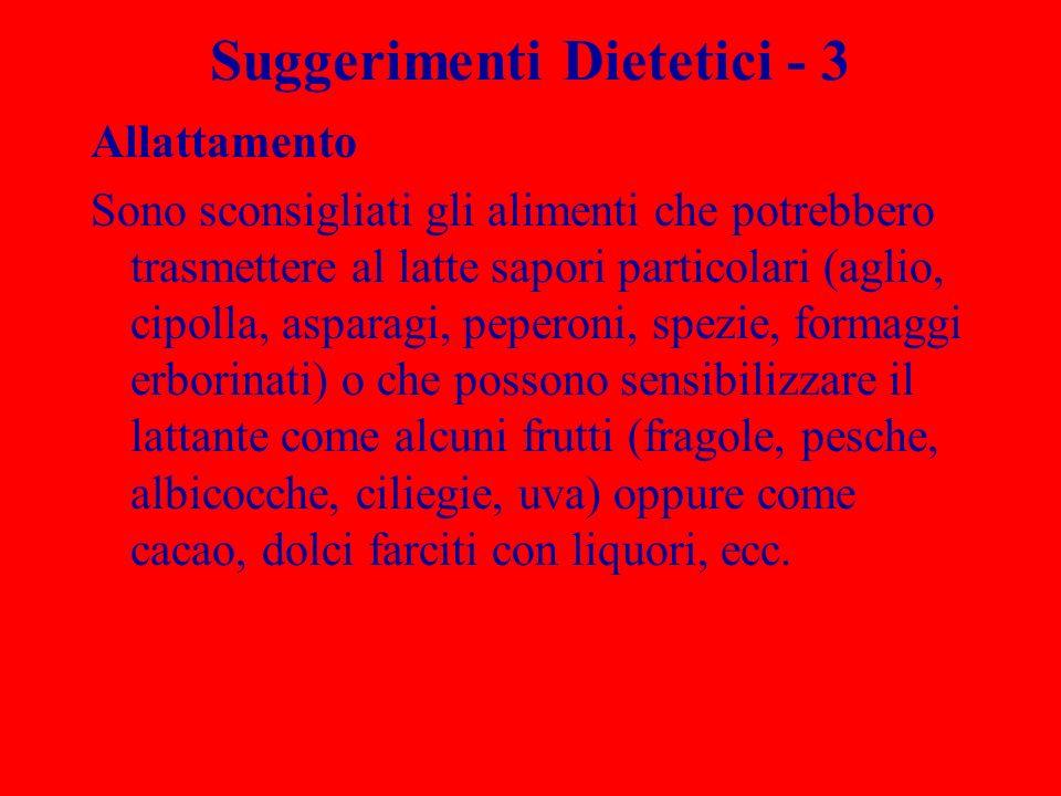 Suggerimenti Dietetici - 3