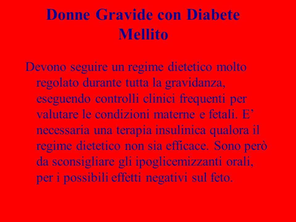 Donne Gravide con Diabete Mellito