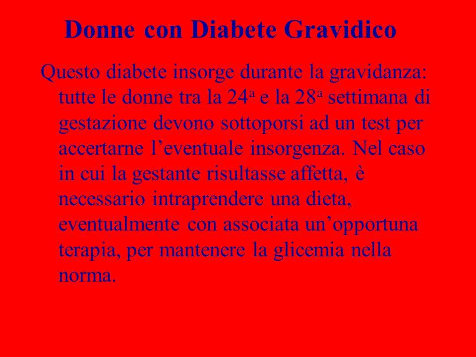 Donne con Diabete Gravidico