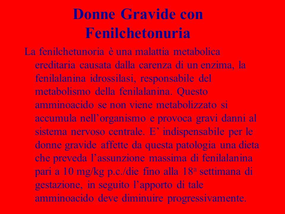 Donne Gravide con Fenilchetonuria