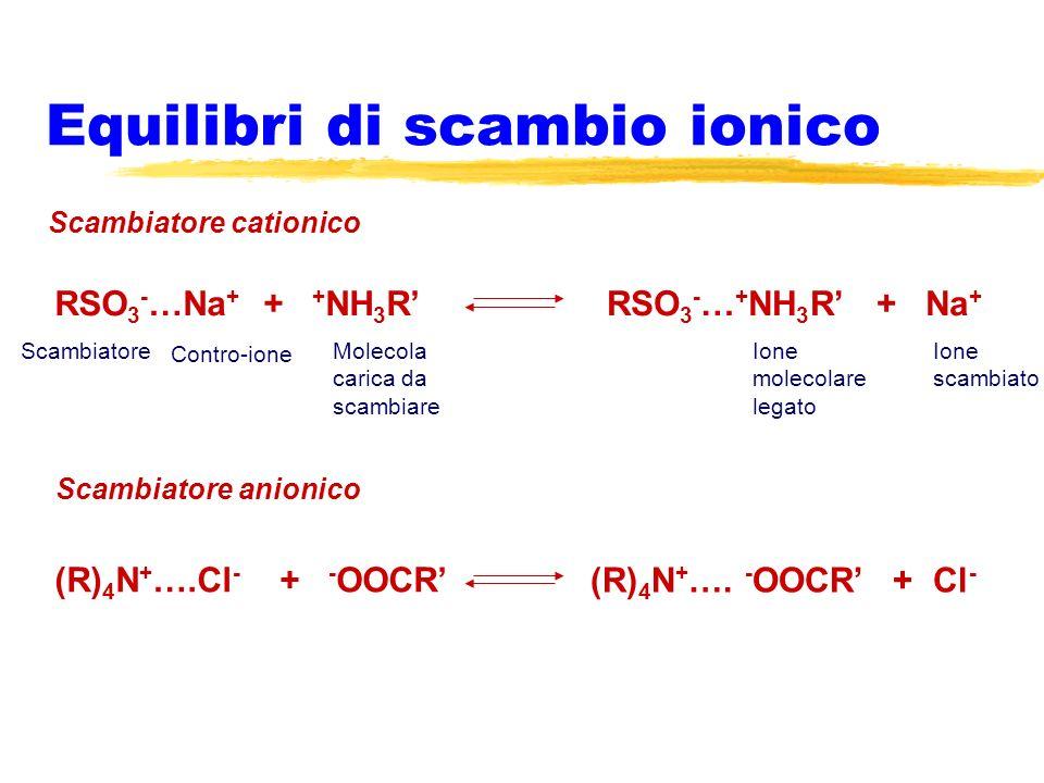 Equilibri di scambio ionico