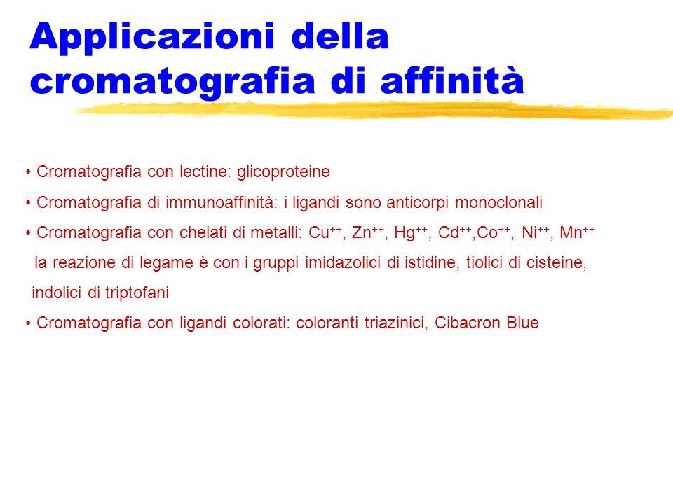 Applicazioni della cromatografia di affinità
