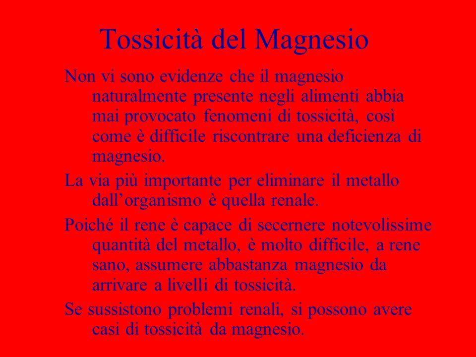 Tossicità del Magnesio