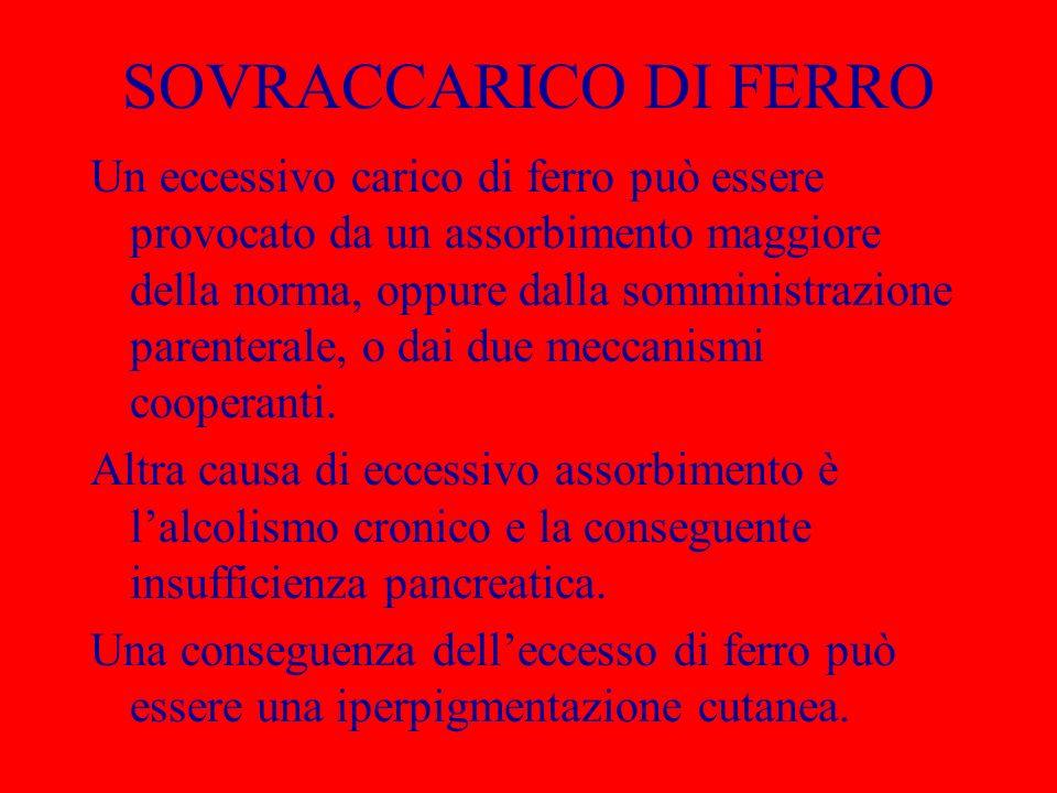 SOVRACCARICO DI FERRO