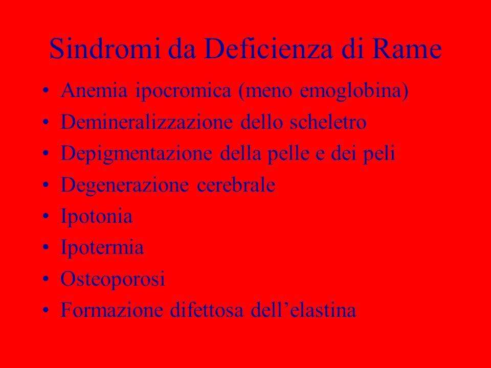 Sindromi da Deficienza di Rame