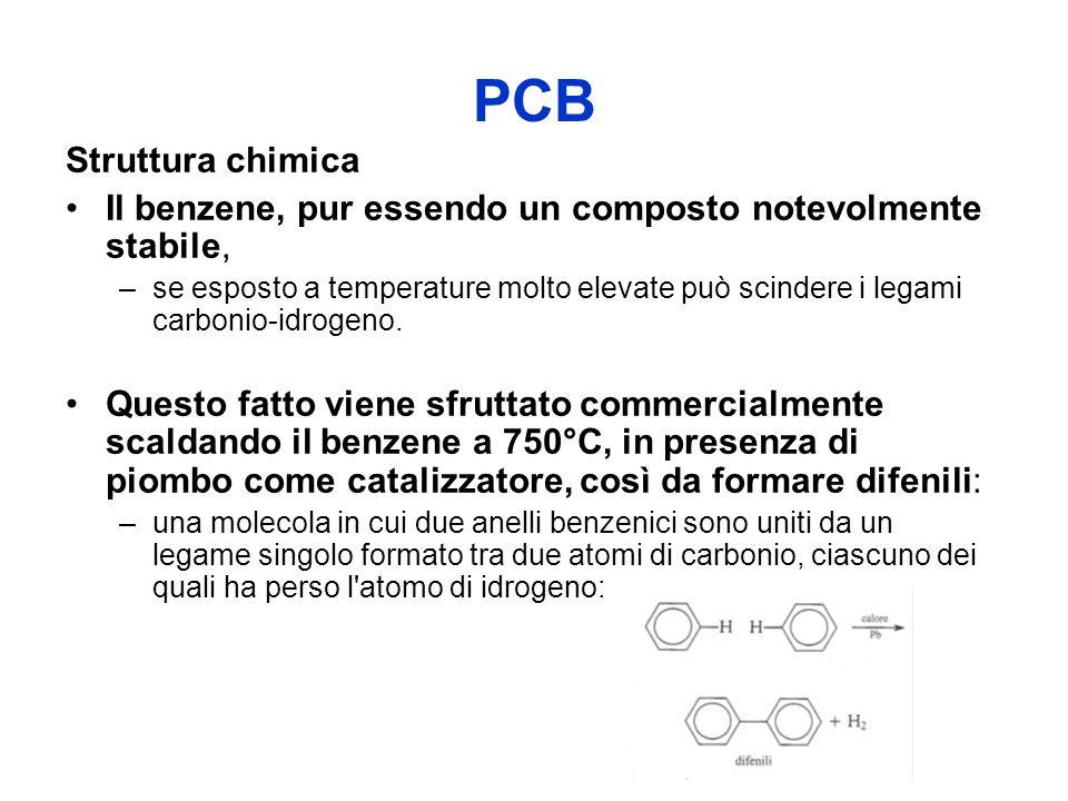 PCB Struttura chimica. Il benzene, pur essendo un composto notevolmente stabile,
