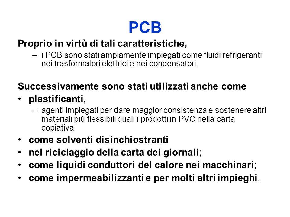 PCB Proprio in virtù di tali caratteristiche,