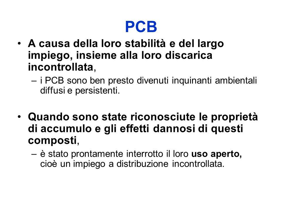 PCB A causa della loro stabilità e del largo impiego, insieme alla loro discarica incontrollata,