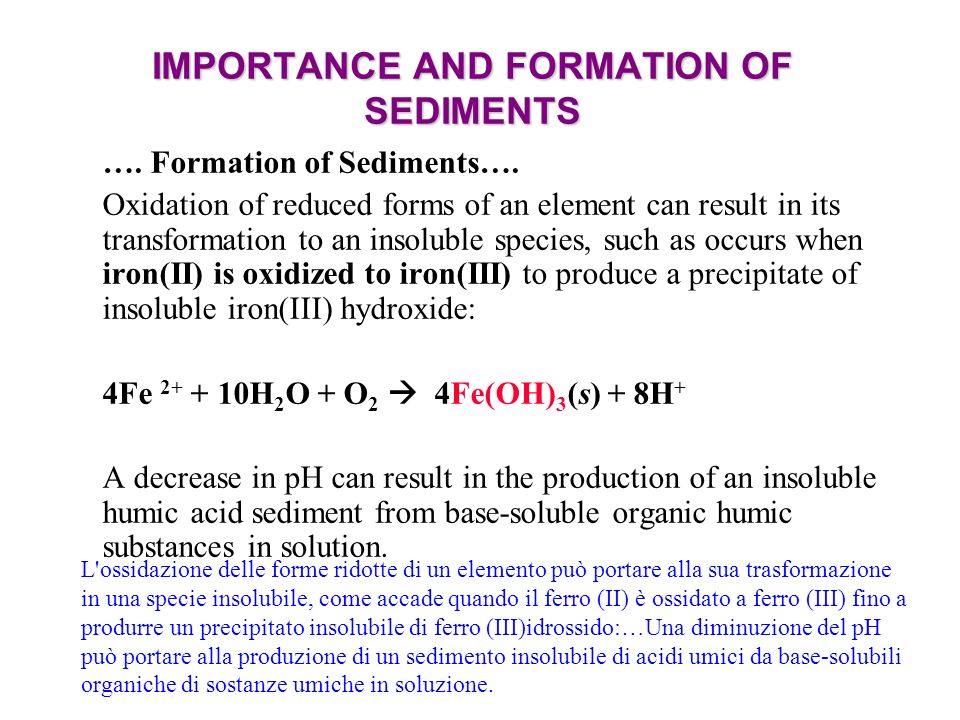 IMPORTANCE AND FORMATION OF SEDIMENTS