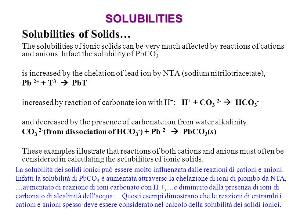 Solubilities of Solids…