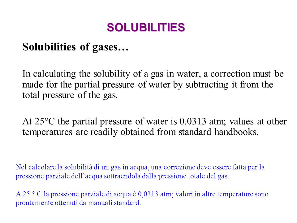 Solubilities of gases…