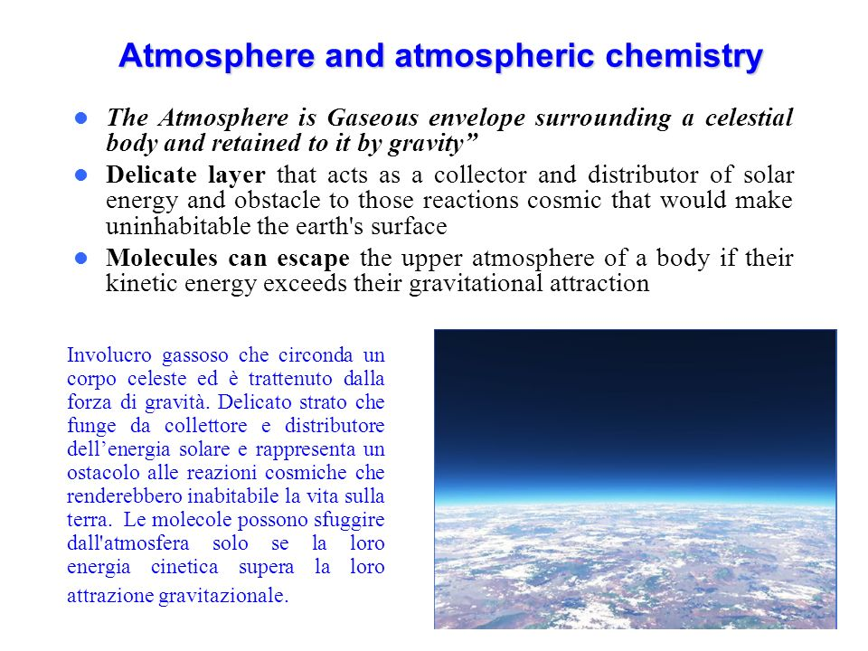 Atmosphere and atmospheric chemistry