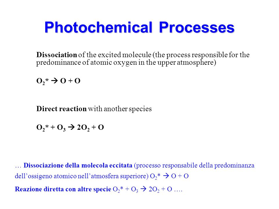 Photochemical Processes