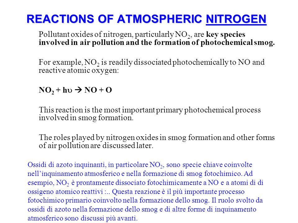 REACTIONS OF ATMOSPHERIC NITROGEN