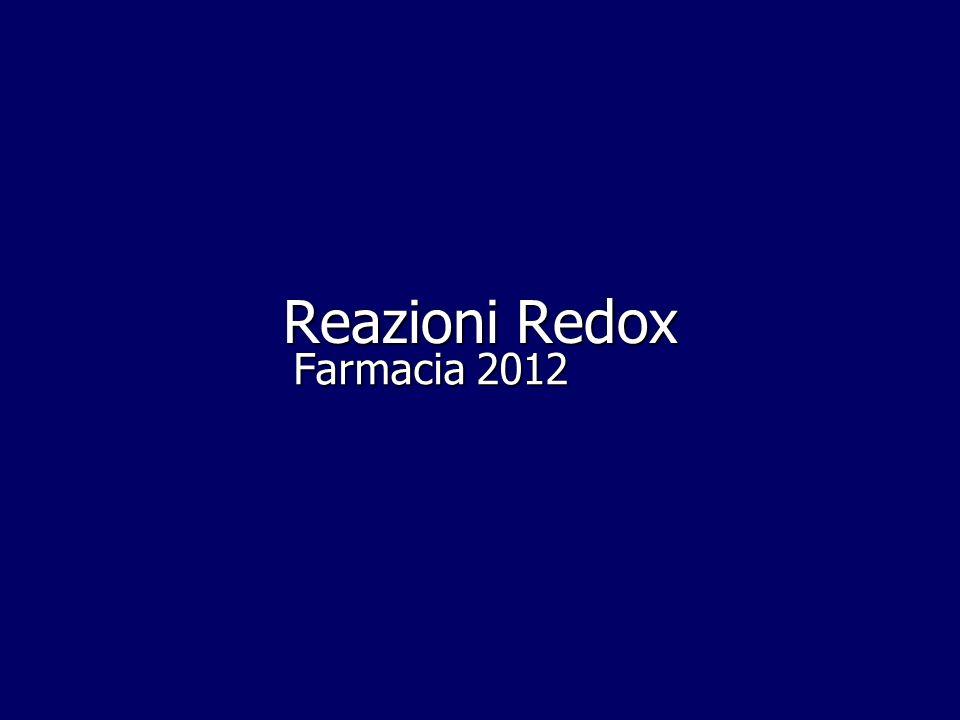 Reazioni Redox Farmacia 2012