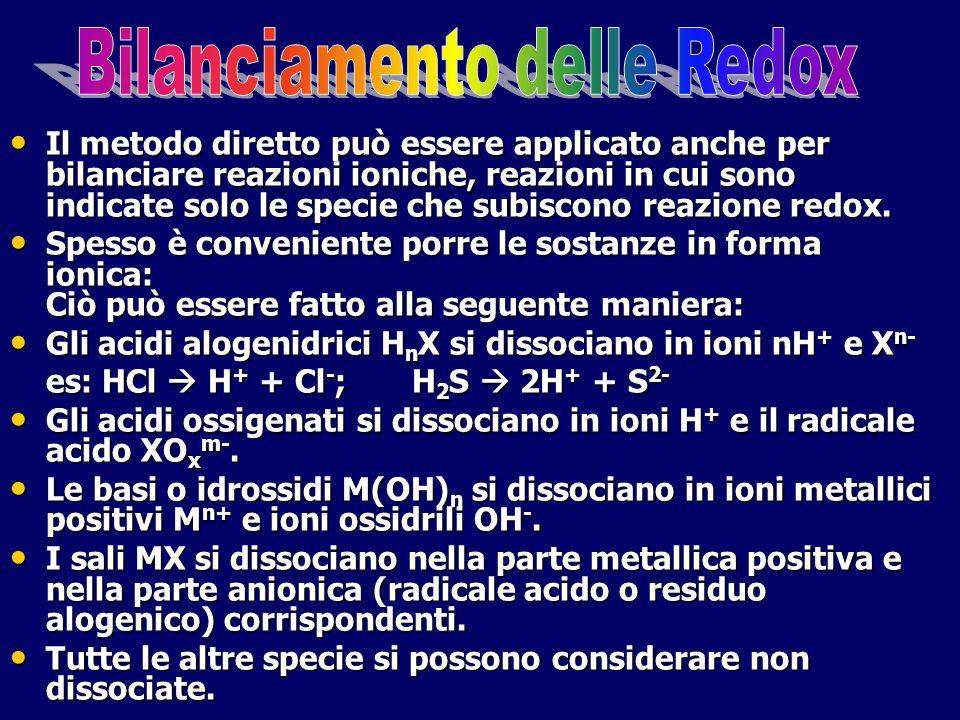 Bilanciamento delle Redox