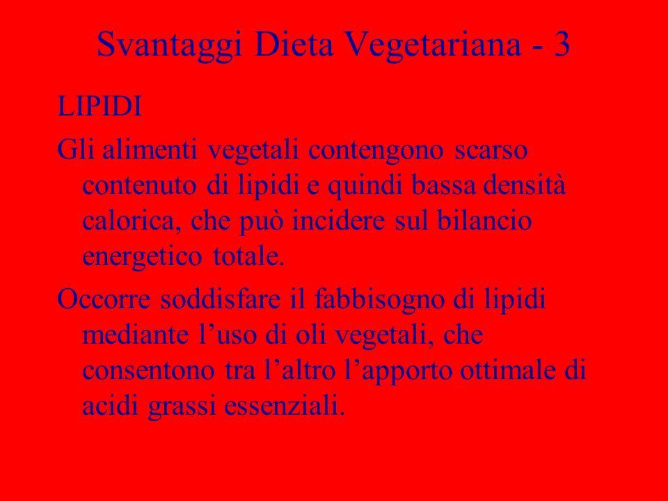 Svantaggi Dieta Vegetariana - 3