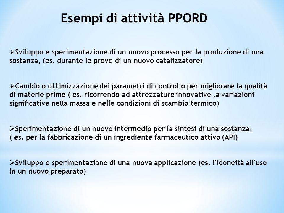 Esempi di attività PPORD