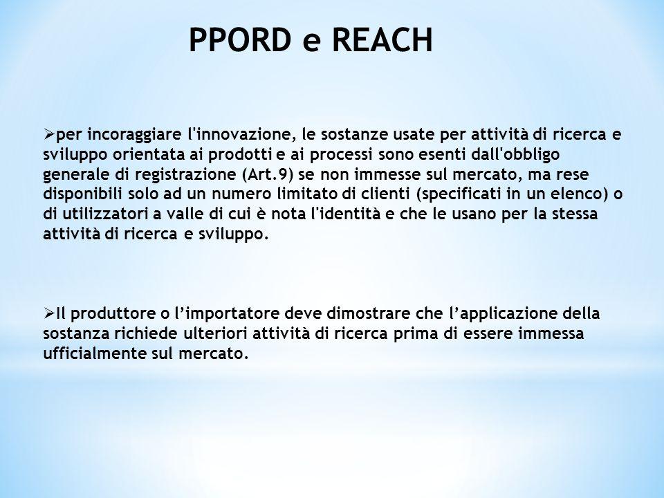 PPORD e REACH