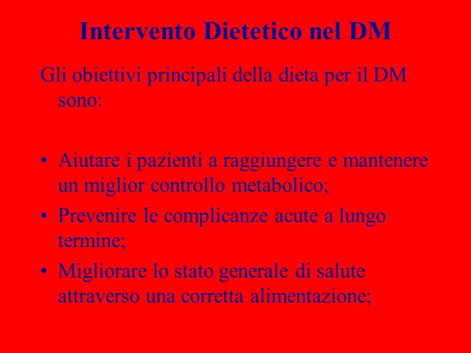 Intervento Dietetico nel DM