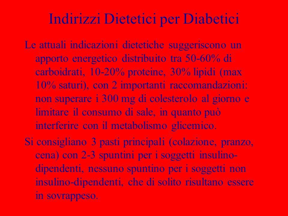 Indirizzi Dietetici per Diabetici