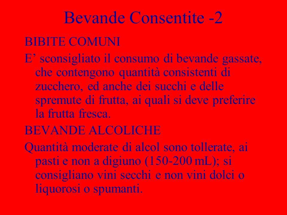 Bevande Consentite -2 BIBITE COMUNI