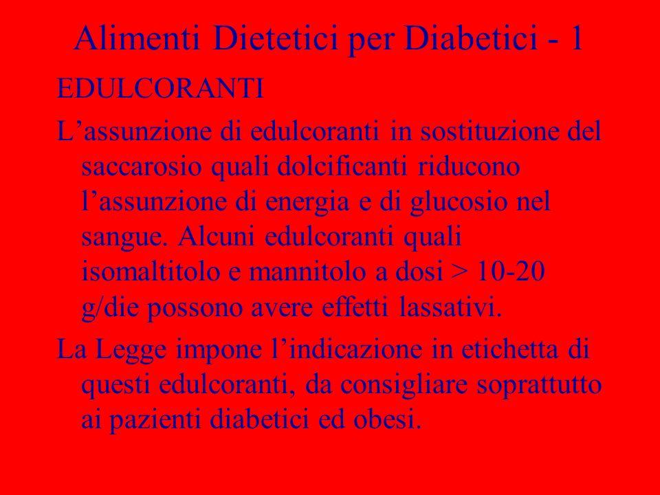 Alimenti Dietetici per Diabetici - 1