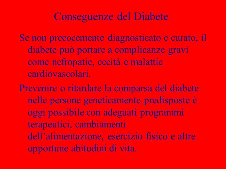 Conseguenze del Diabete