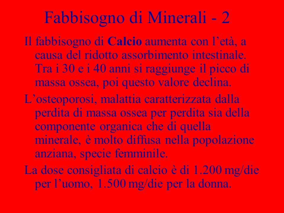 Fabbisogno di Minerali - 2