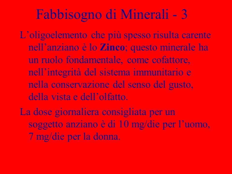 Fabbisogno di Minerali - 3